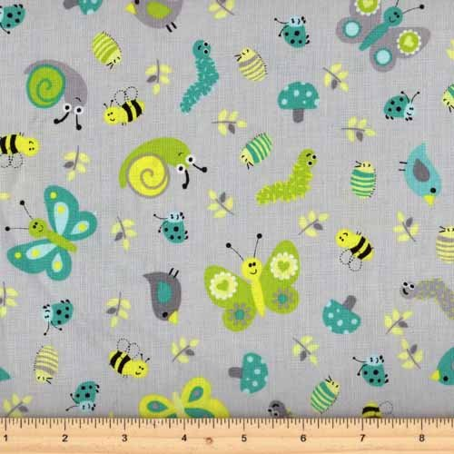 Northcott whoooloves you 6935 91 grey for Grey childrens fabric