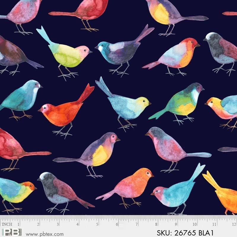 P&B Bird Watchers by Norman Wyatt  Birds 26765 Black