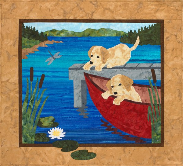 Puppy Canoe - Wall Hanging Pattern by Sue Pritt