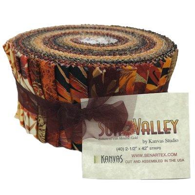 Kanvas Sun Valley   Pinwheel - 2 1/2 strips -  42 pieces assorted fabrics