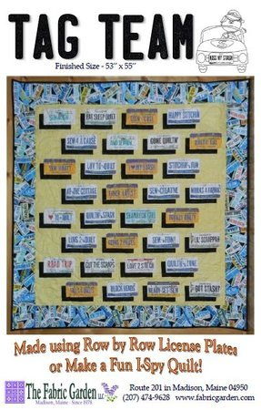 Pattern: Tag Team - use with Row by Row License Plates! ON SALE!