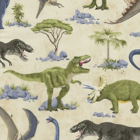 Timeless Treasures Dinosaur Scenic C5723