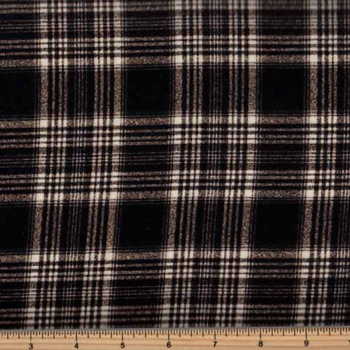 Timeless Treasures Tailor Flannel - CF5323 Black Tonal Plaid
