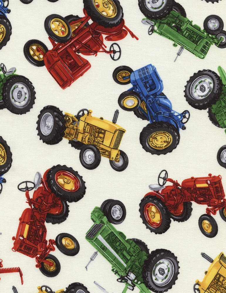 Timeless Treasures Tractor GM-C2573-Cream