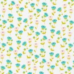 Buttercup Turquoise - Cloud 9 Fabrics - Vignette Collection - Organic