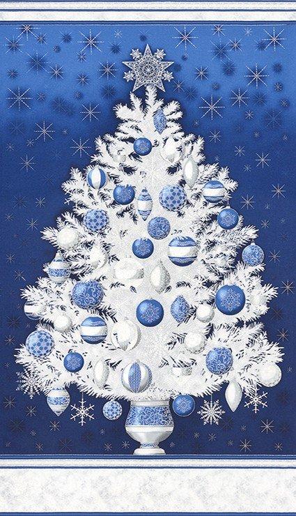 Blue Christmas Tree panel