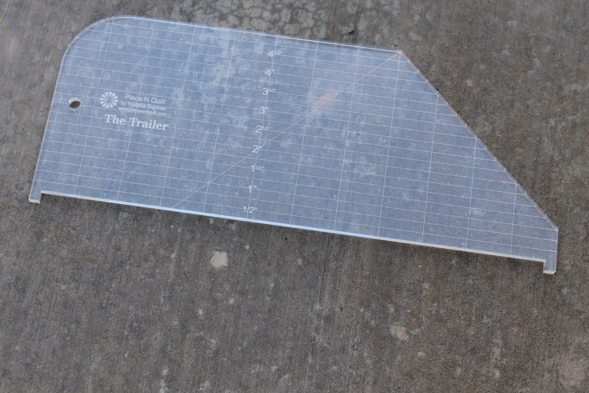 The Trailer Machine Quilting Ruler