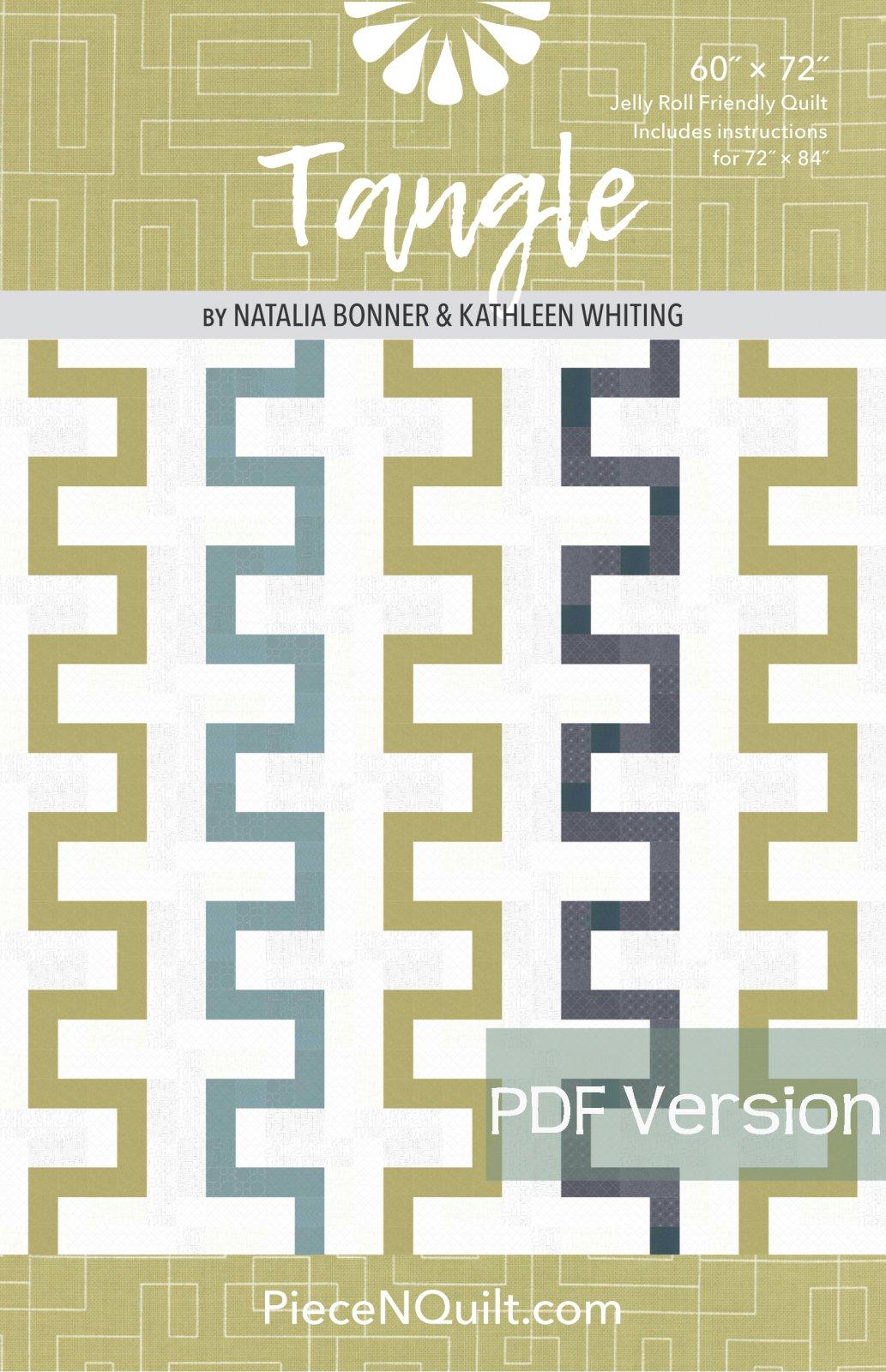 Tangle Quilt Pattern - PDF Version
