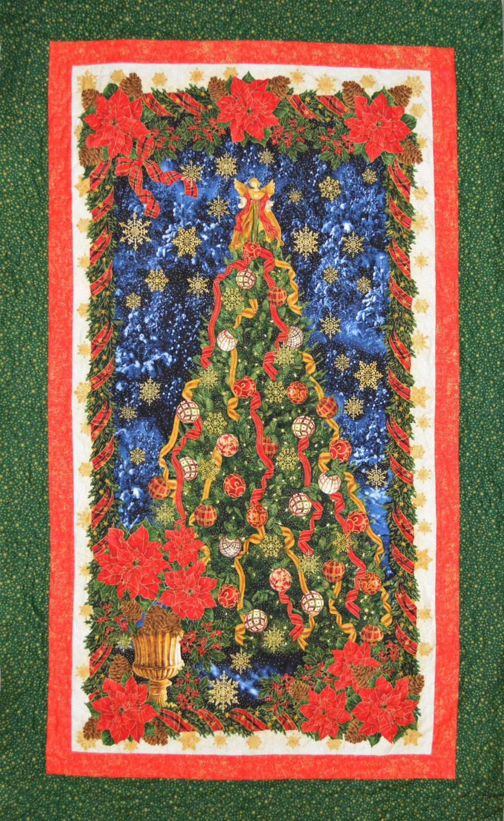 Christmas Tree Panel Quilt