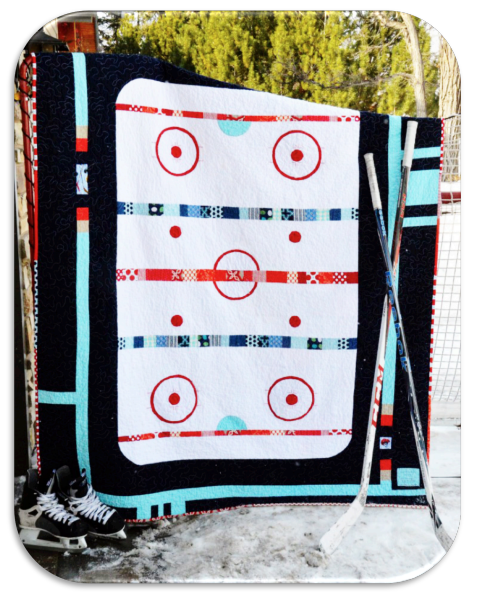 Good Ol' Hockey Game Quilt