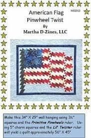 Pattern American Flag Pinwheel Twist Pattern MDZ014