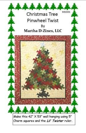 Pattern Christmas Tree Pinwheel Twist Pattern MDZ001
