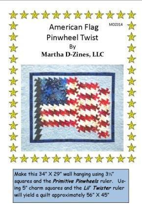 Texas Flag Pinwheel Twist PatternMDZ004