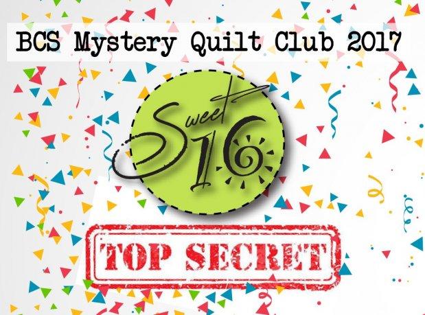 BCS Mystery Quilt Club Sweet 16