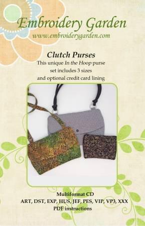 Embroidery Garden Clutch Purses  655036584132