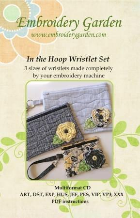 Embroidery Garden In The Hoop Wristlet Set  655036584118