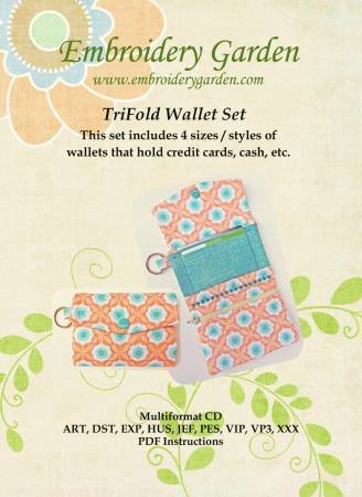 Embroidery Garden  TriFold Wallet Set  655036584071