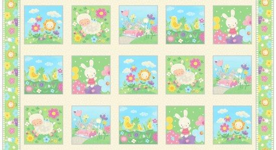 Spring fling panel for Children s fabric panels