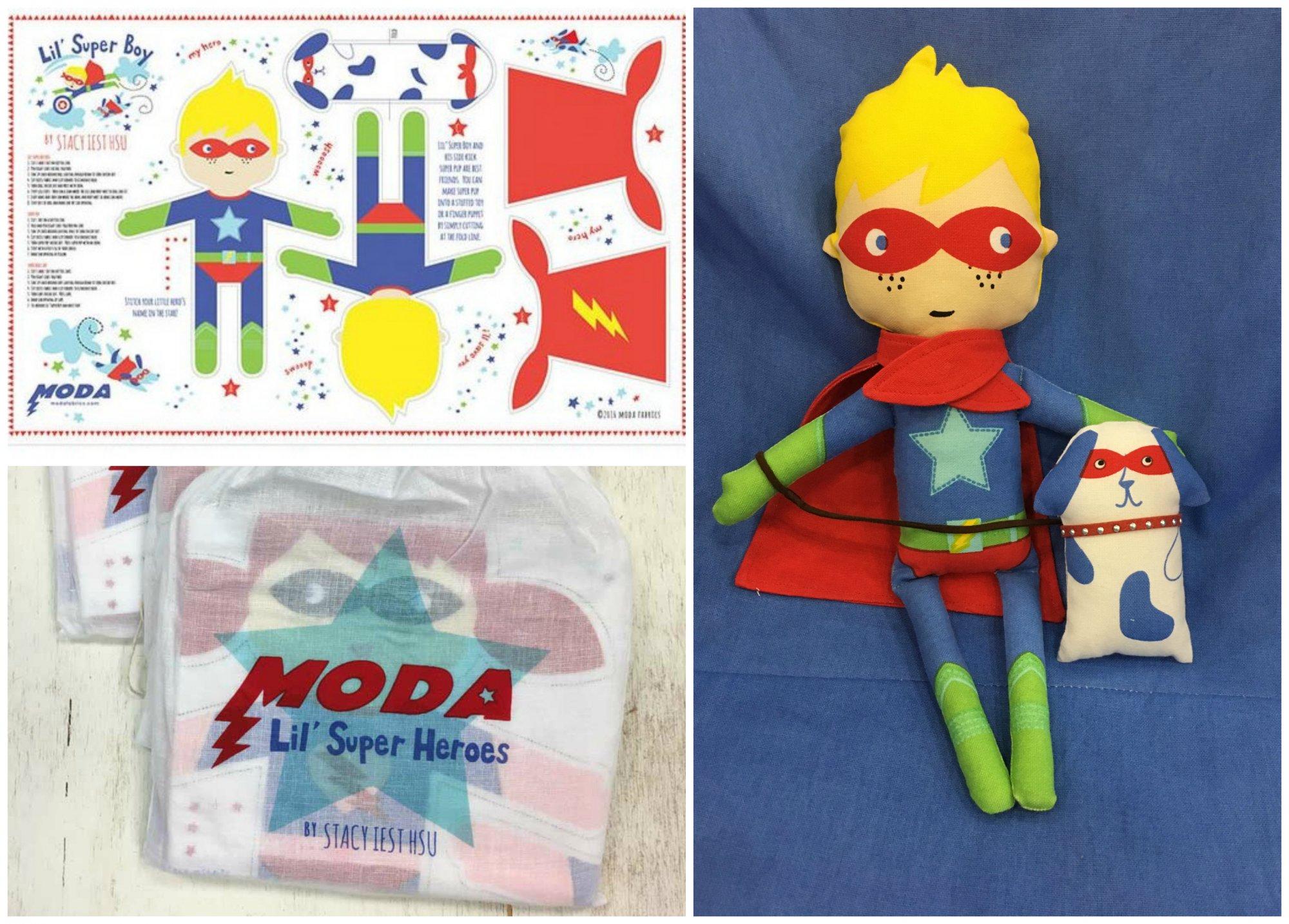 Lil Super Hero Doll Panel