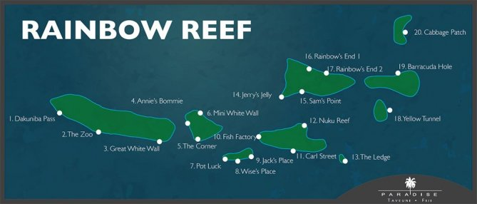 Rainbow Reef Map