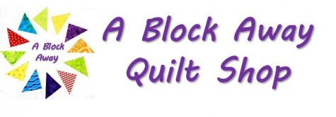 A Block Away Quilt Shop Name & Logo