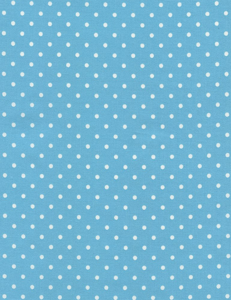 Polka Dots on Aqua Fabric from Dot Collection by Timeless Treasures