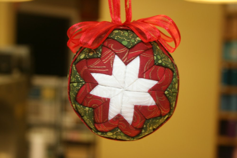 An Easy No Sew Christmas Ornament Constructed With Folded