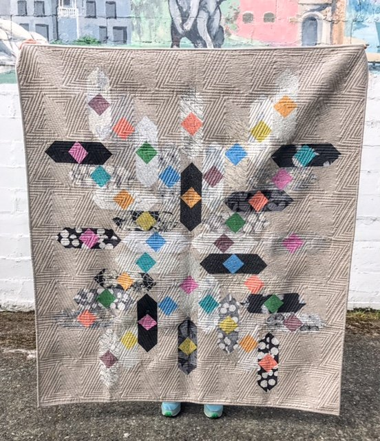 Black and White Quilt Kit- Wild Jelly Rolls