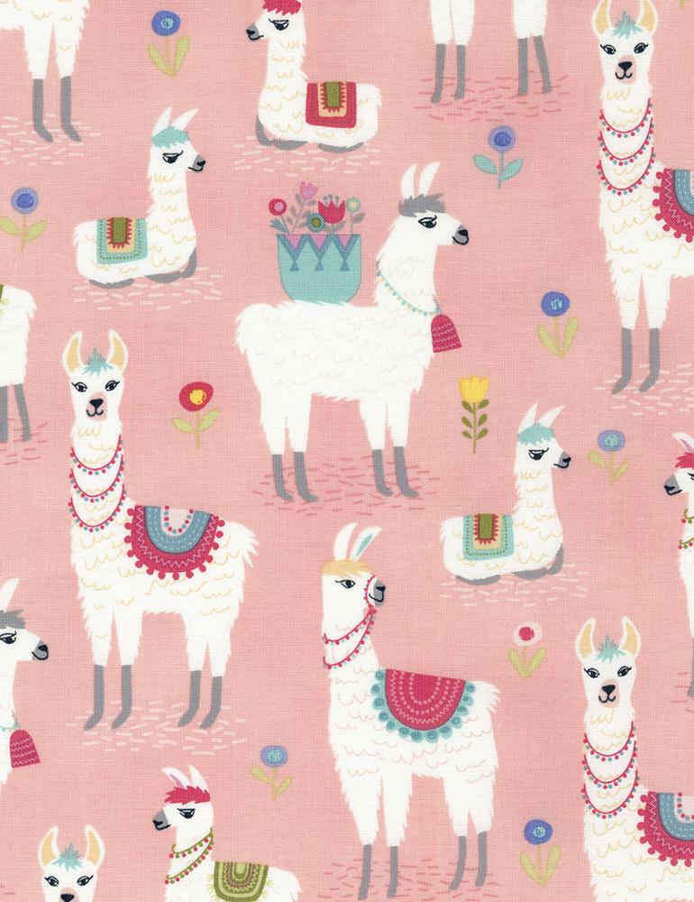 Alpaca- Pink- Timeless Treasures