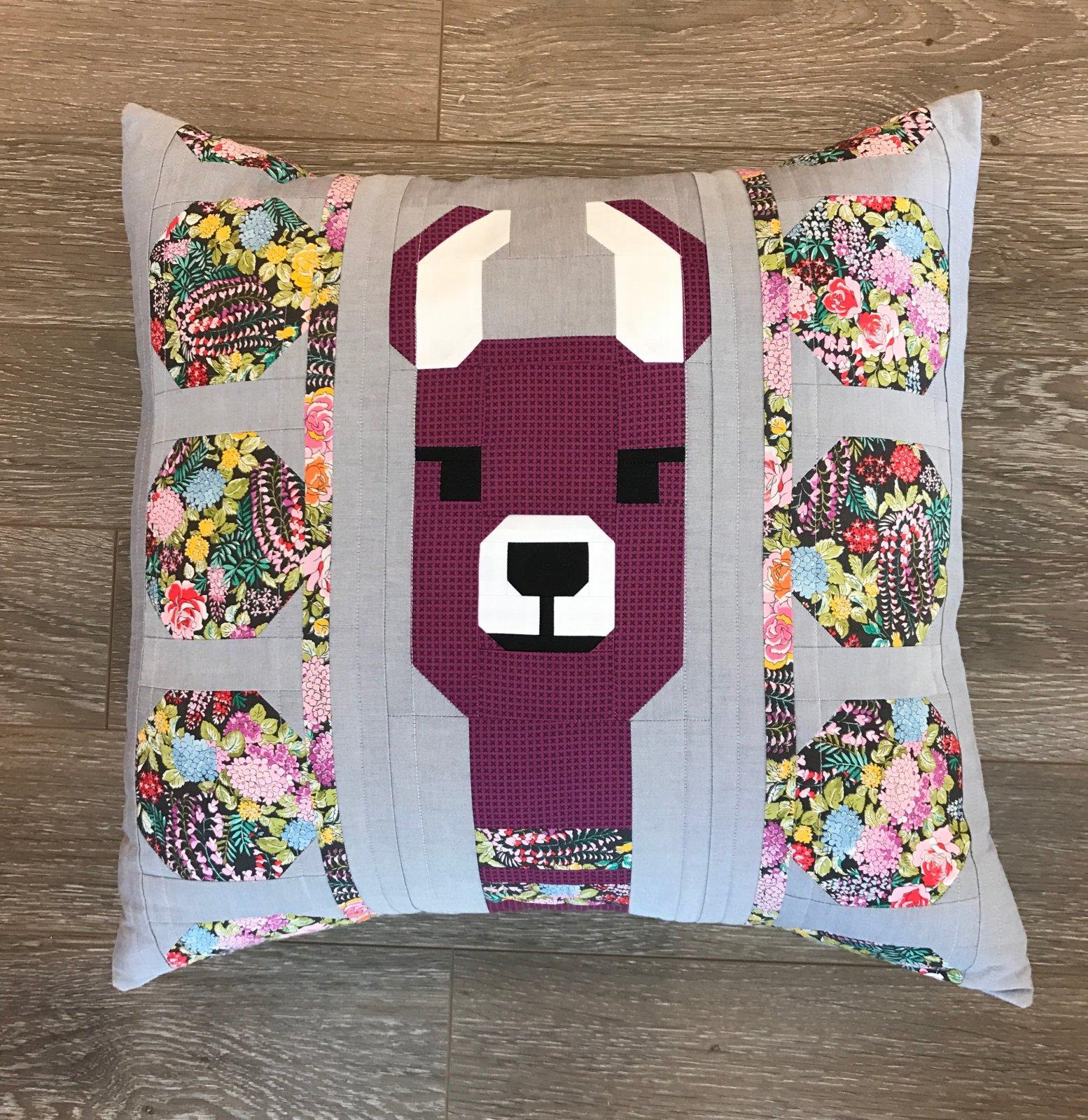 Lola Llama Purple Pillow Kit- Elizabeth Hartman