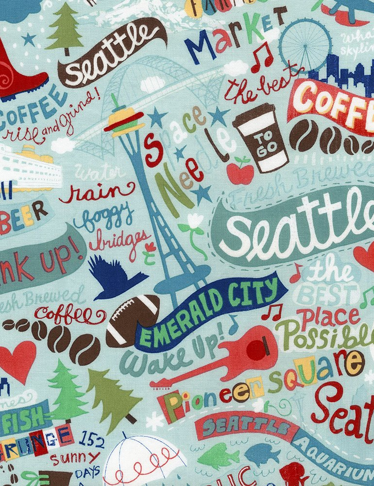 Seattle Fabric- Rain- Timeless Treasures