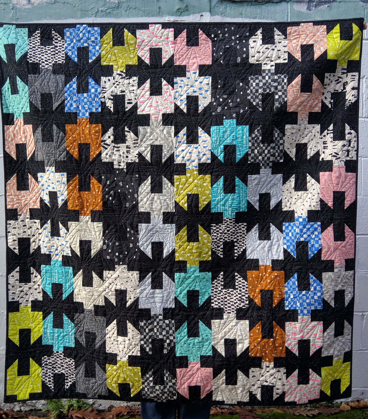 Cinched Quilt Kit - Print Shop  - includes binding - Finished approx. 60x64