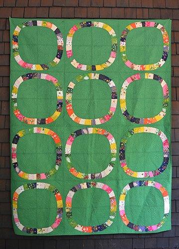 Single Girl- Green- Sleeping Porch Cotton Lawn Quilt Kit- Heather Ross