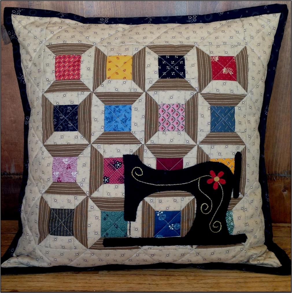 August Stitching Pillow