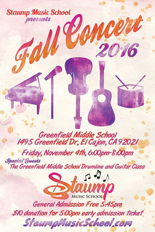 Staump Music School 2016 Fall Concert