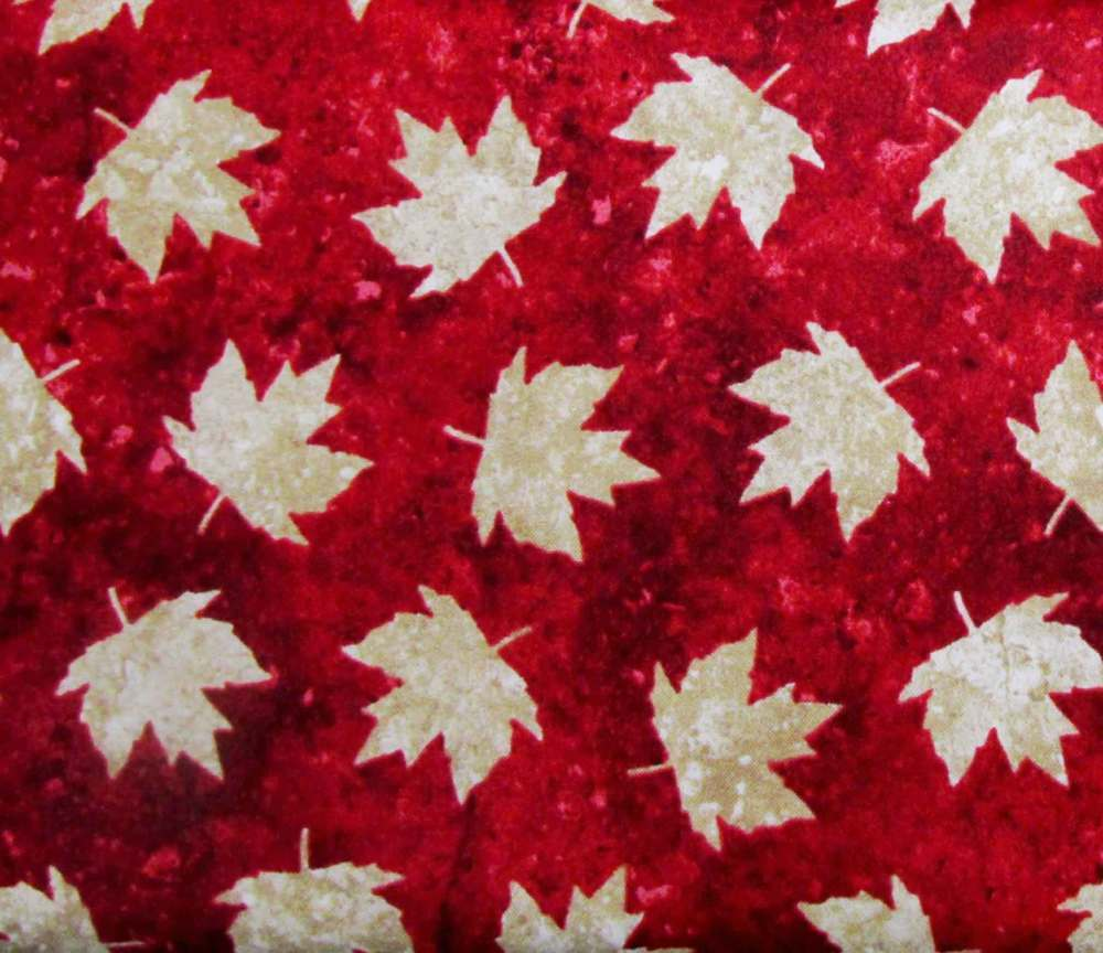 Oh Canada Maple Leaf Red Background
