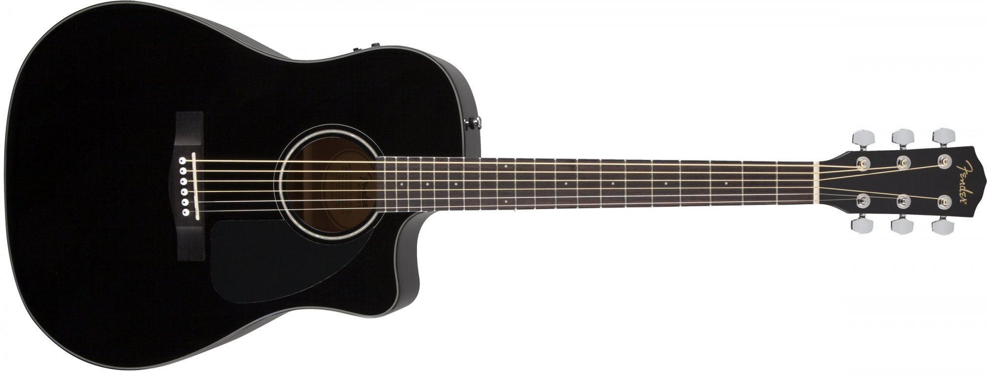fender cd 60ce acoustic electric guitar black with hard case 717669961756. Black Bedroom Furniture Sets. Home Design Ideas