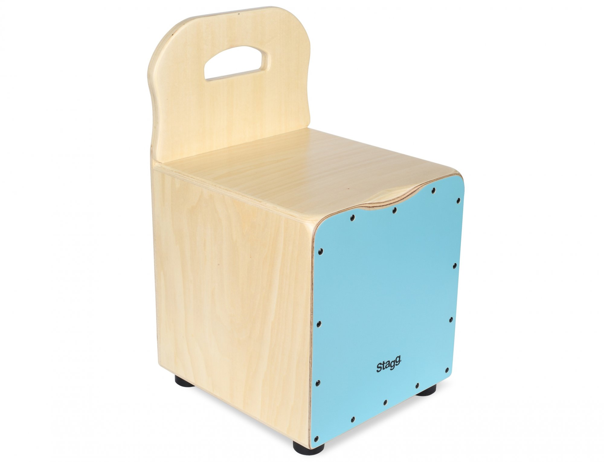 Stagg Kid Cajon with Backrest, Blue