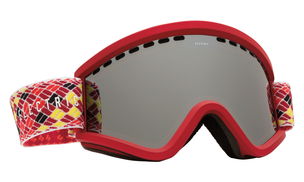 Electric EGV SNOW GOGGLE Red Black Rope W Bronze Silver