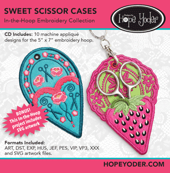 Sweet Scissor Cases In-the-Hoop Embroidery Collection