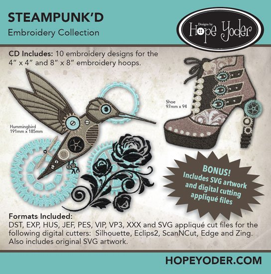 Steampunk'd Embroidery Collection