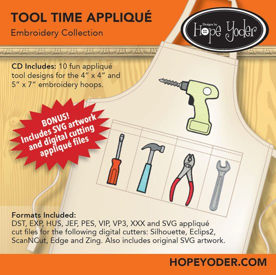 Tool Time Appliqu� Embroidery Collection