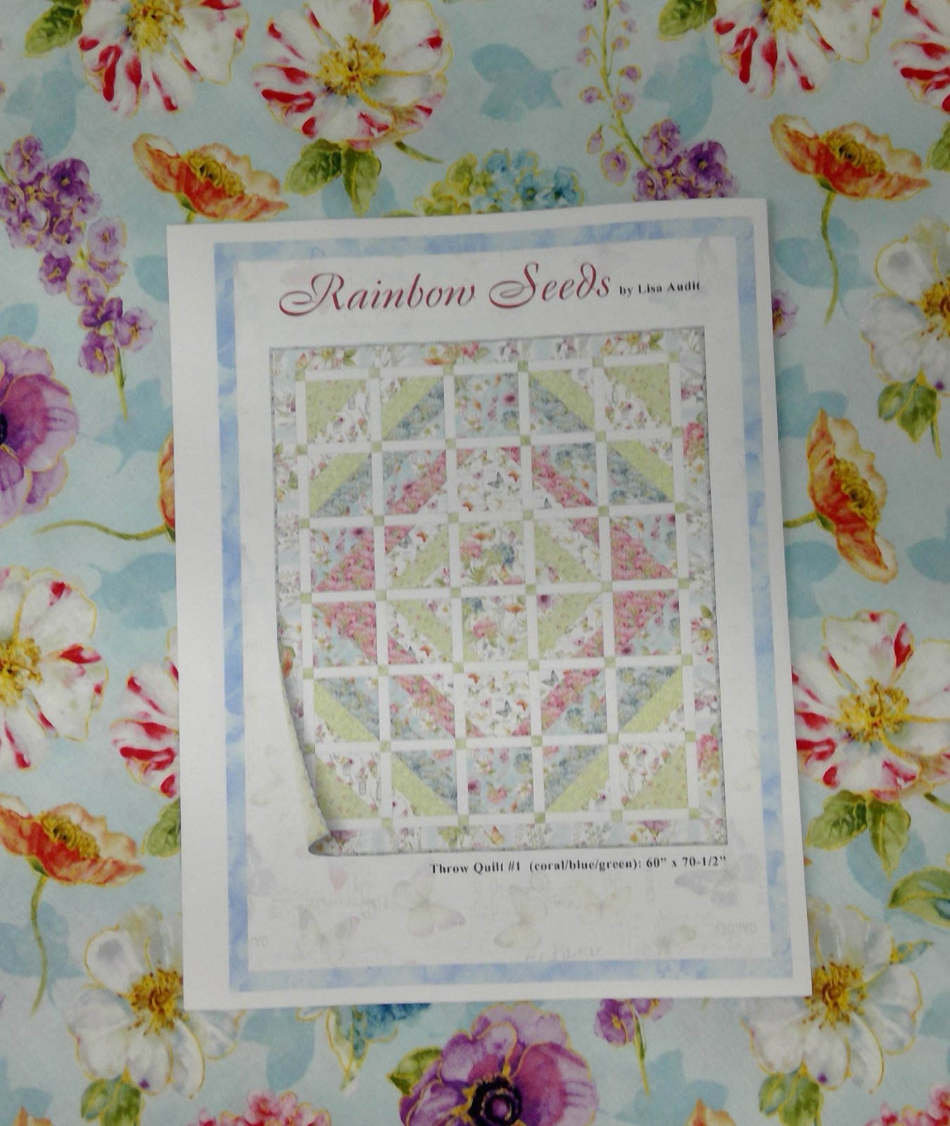 Rainbow Seeds Quilt Kit