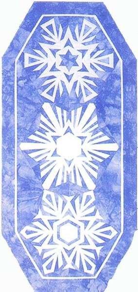 Snowflakes Table Runner Pattern - 633118107073