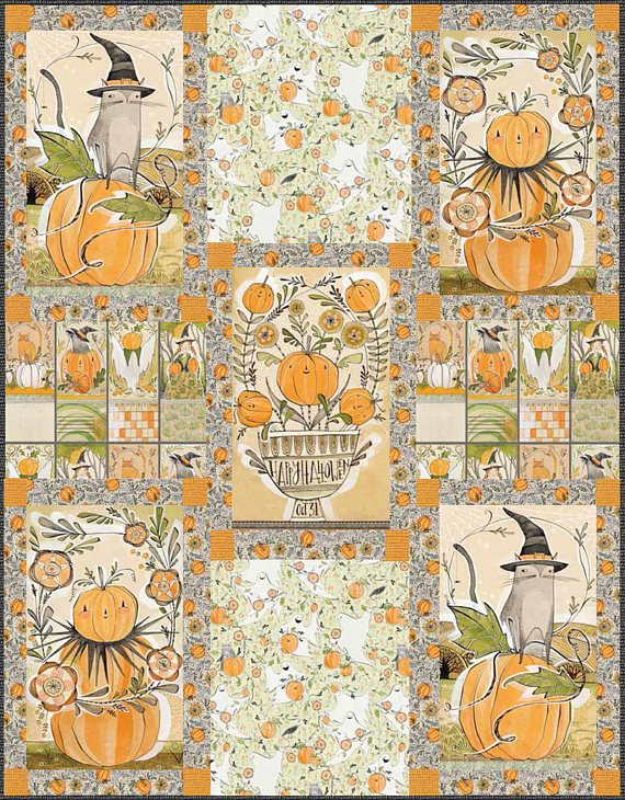 BEST DAY EVER// PUMPKIN PATCH QUILT KIT WITH  BACKING//SIZE 55x72//CORI DANTINI//BLEND