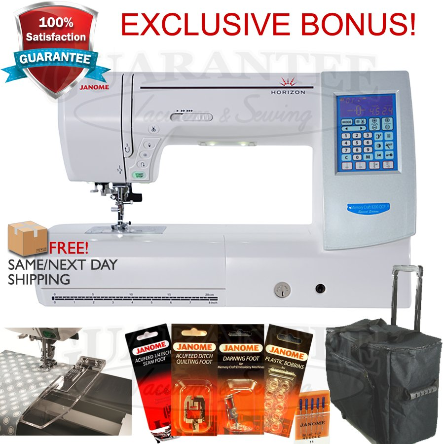 JANOME HORIZON MC8200QCPSE Quilting /Sewing/Crafting   11 1/4 Extended Arm