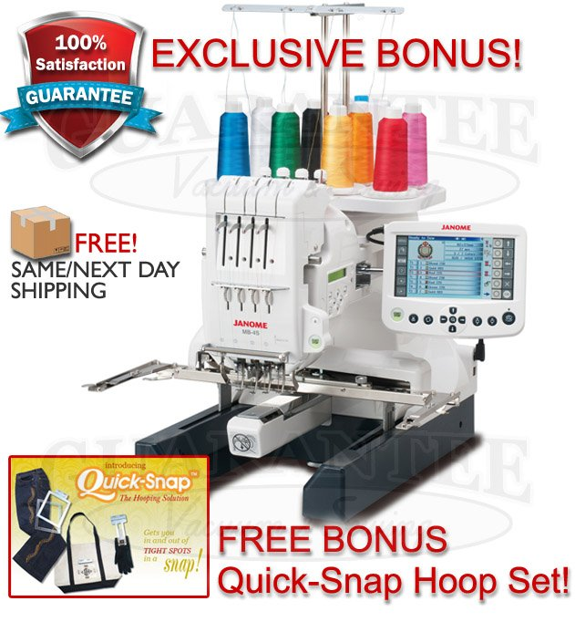 JANOME MB4S  4-Needle Professional Embroidery Machine w/ FREE Quick Snap Hoop Set