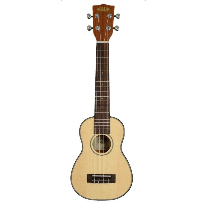 Kala KA-SSLNG Long Neck Soprano Ukulele - Solid Spruce Top