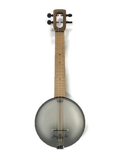 Magic Fluke Firefly Concert Banjo Ukulele - Walnut, Hardwood Fretboard, Peghead Tuners w/ Bag