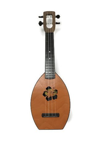 Magic Fluke Flea Concert Ukulele - Mango, Floral Soundhole w/ Bag